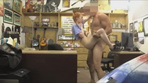 Red Haired Girl, Lola Taylor Spread Her Legs Wide Open And Got Fucked From The Back