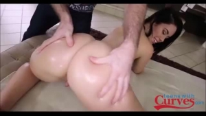 Juicy Brunette Teen Gets Machine Pounded And Spanked