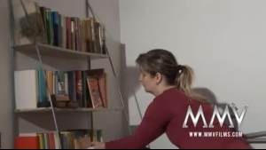 German Lady Is Having Wild Sex On The Couch, Instead Of Studying For Her Exams