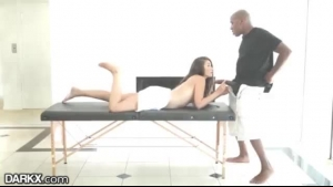 Hot, Black Babe Is About To Fuck Her Elderly Lover In A Doggy- Style Position