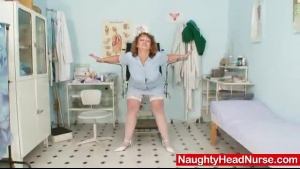 Curvy Granny Strips Off Her Black Stockings