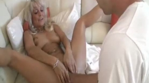 Kinky Blonde Slut Is Oiled Up Her Pussy And Prepares To Make Her First Porn Video