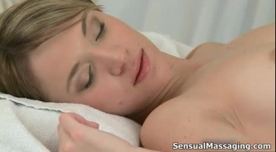 Racy Blonde Masseuse Is Getting Fucked By Her Client, While Wearing Erotic Outfit Many Want