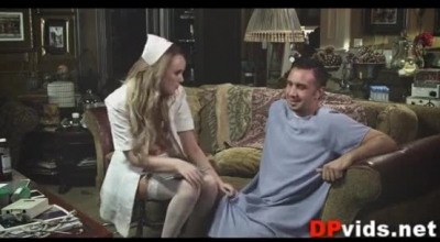 Busty Blonde Nurse, Alison Is Alone At Home And Gets Into Mind- Blowing Sexual Situations