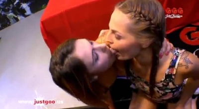 Sexy Blonde, Ani Black Fox Got Fucked Hard In Her Wide Open Ass, While She Was Kneeling