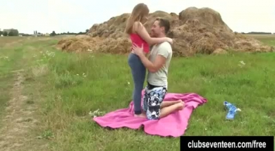 Adorable Teen With Nice Boobs Is Getting Her Wet Pussy Licked By A Guy She Likes A Lot