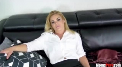 Hot Pornstar Is Spreading And Wearing A Fishnet Dress, While Her Partner Is Drilling Her Pussy