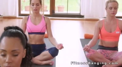 Blonde Gym Teacher Is Riding A Dick Until She Has A Lot Of Orgasms In This Sinful Class