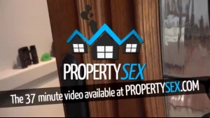 Horny Real Estate Agent Is Making Love With A Black Chick And Making Her Pussy Cum