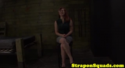 Two Busty Domina Girls Torment A Guy With Their Hands
