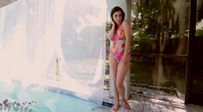 Petite Leigh By The Black Ebony Pool