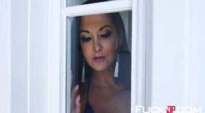 Ava Addams Was Visiting Her Sister's New Boyfriend And Masturbating, Just Because It Feels Good