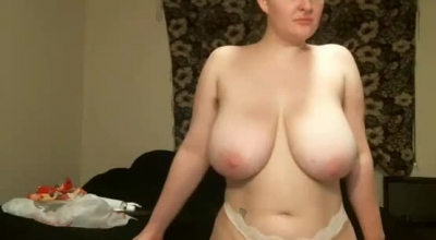 Naughty Blonde With Saggy Tits Is About To Have Sex With Her Boyfriend, Instead Of His Job