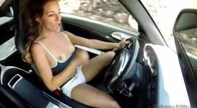 Solo Brunette, Cassidy Takes A Big, White Cock Up Her Ass Before Riding It Like A Slut