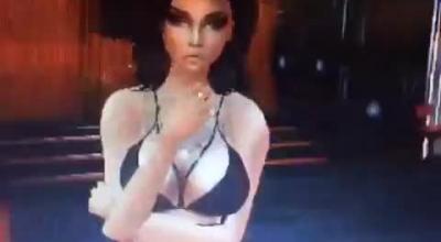 Hardcore Pole Dancing Slut In The Streets Of Nite City Slut Posing Her Face As Temptress