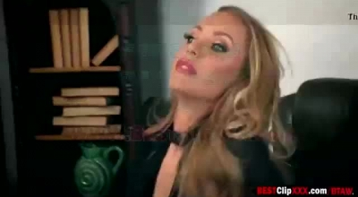 Russian Blonde, Nicole Is Getting Fucked Hard Not Knowing That Her Boyfriend Is Online