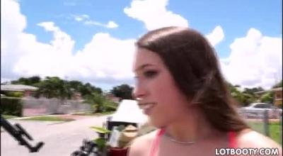 Delightful Schoolgirl, Kimber Woods Got Cash In Exchange For Sucking Her Good Friend's Dick