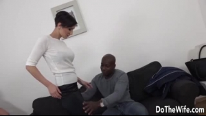 Black Haired Slut Is Sucking A Big, White Dick Just Because She Likes To Feel It Inside Her