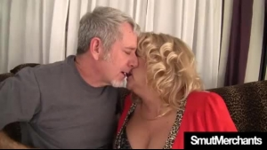 Mature Blonde Woman With Big Tits Likes When Her Lover Is Pounding Her Soaking Wet Pussy