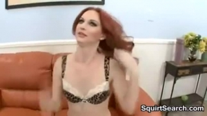 Red Haired Chick Is Seducing Her Wife's Young Son, Because She Wants To Make Love With Him