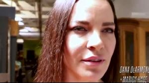 Young Brunette Lezdom Mistress Gets Cum All Over Her Face