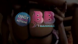 Naughty Tranny Gets Gang Banged By Several Video Players