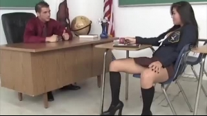 Big Tited Schoolgirl, Nelly Gets A Huge Dick Up Her Tight Ass, In The Classroom