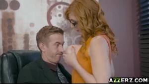 Huge Tits Redhead Teen Teasing On Webcam