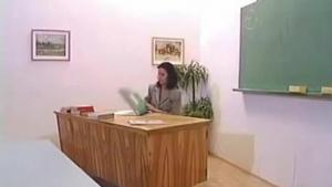 Sexy Brunette Teacher Does Forbidden Lesbian