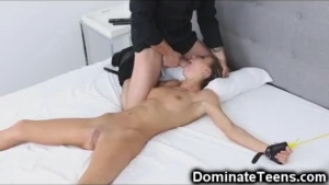 Petite Blonde Is Having A Threesome With Her Kinky Friends, And Gently Drilling Her Pussy