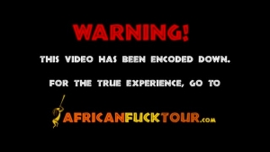 African Babe Is Giving A Nice Blowjob Before Getting Fucked In The Ass Until She Cums
