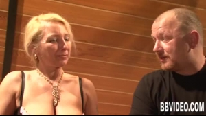 Busty Milf Getting A Good Tug And Cock Jizz