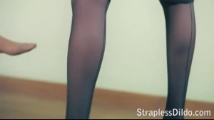 Hot Stocking Lesbians Playing