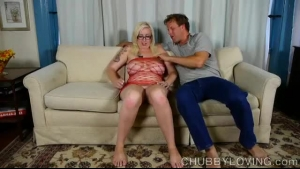 Hot Plumper Is Playing With And Squeezing Two Dildos At The Same Time, To Spice Up The Sex