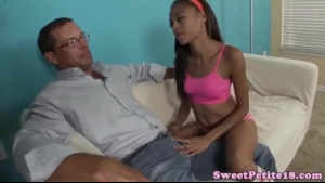 Nubian Petite Sucking Big Dick And Gets Fucked
