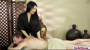 Amazing Asian Masseuse Sucking Cocks And Pounding Black Guy