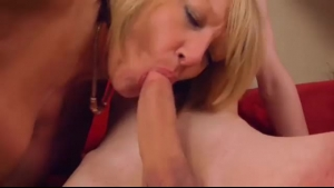 Blonde Grannie Is Getting A Hard Cock Inside Both Of Her Fat, Good Holes, During A Vacation