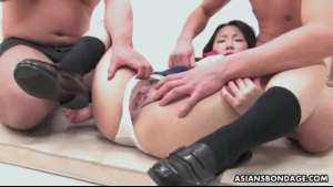 Asian Schoolgirl Is Really Sucking A Stiff Meat Stick Instead Of Having A Regular Class