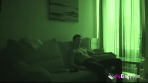 Horny Couple Is Having Sex On The Sofa And Trying Not To Moan Too Loud