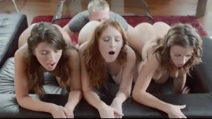 Three Elegant Babes Sharing Large Meat Poles With Their Toes