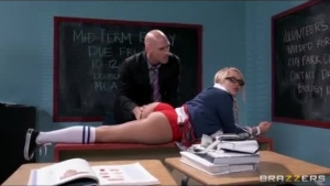 Yummy Blonde Schoolgirl Is Into The Old Days And Enjoys Having Sex With Younger, Horny Teachers