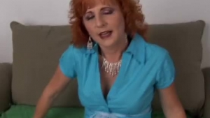 Sexy Redhead Mom Takes Cum On Her Mom