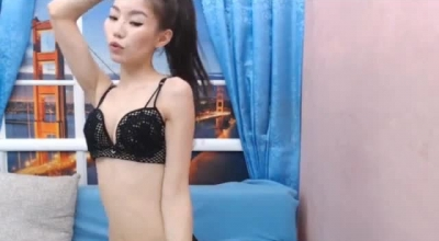Asian Babe Is Sucking A Horny Guy's Hard Cock, While He Is Playing With Her Wet Pussy