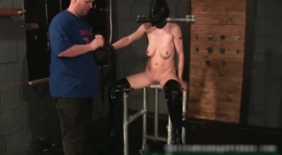 Bound Ebony Babe Screwed By Her Fellow