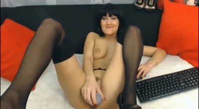 Dark Haired Mature With Hairy Cunt Is Enfrusted With A Big, White Cock After Sucking It