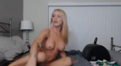 Blonde Slut Rides A Black Cock In Exchange For Fantasy He Is Watching, For The Day