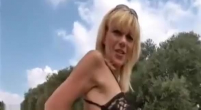 Blonde Lady, Lena Paul Is Riding A Pole And Getting Fucked Next To The Camera, On The Couch