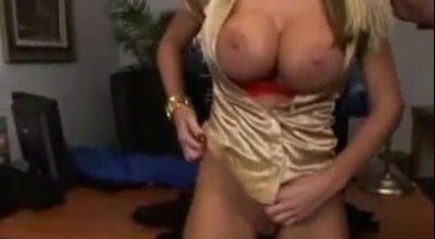Big Breasted Titty Blonde Is In A Doggy Position With Her Partner And Getting Some Tender Sex