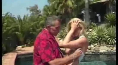 Experienced Comic Cock Sucking Blonde Sucking On A Pensioner