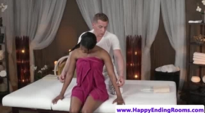 Sensual Babe, Black Maria Is Getting Her Shaved Pussy Fucked From The Back, Both In Her Bedroom